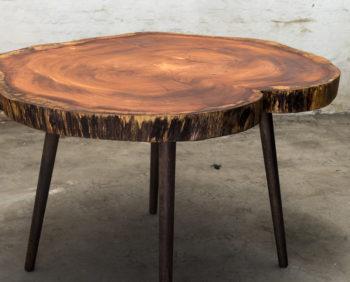 spisebord af afrikansk bubinga